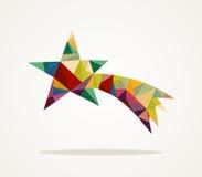 Fichero de moda de la composición EPS10 de la estrella fugaz de la Feliz Navidad. stock de ilustración