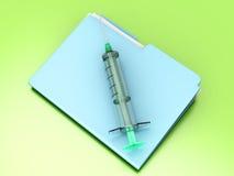 Fichero médico Imagen de archivo libre de regalías
