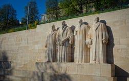 Fichero: Pared de la reforma en Ginebra, Suiza Fotografía de archivo