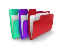 Ficheros coloreados Imagen de archivo libre de regalías