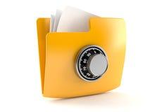 Ficheros con la cerradura de combinación Imágenes de archivo libres de regalías