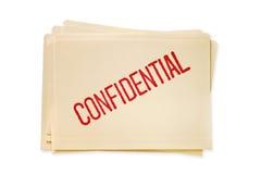 Ficheros confidenciales Imágenes de archivo libres de regalías