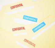 Ficheros de documento confidenciales de negocio Foto de archivo libre de regalías