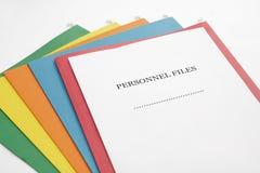 Ficheros de los personales Fotografía de archivo libre de regalías