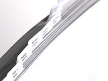 Ficheros del asunto con las tabulaciones Fotos de archivo libres de regalías
