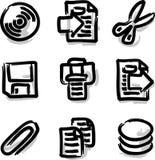 Ficheros del contorno de la etiqueta de plástico de los iconos del Web del vector Imagen de archivo