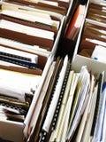 Ficheros del negocio en carpetas del ADN de las cajas Foto de archivo libre de regalías