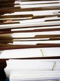 Ficheros del negocio en carpetas del ADN de las cajas Imágenes de archivo libres de regalías