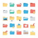 Ficheros e iconos 1 del vector de las carpetas Imagen de archivo libre de regalías