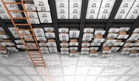 Ficheros en el almacenamiento Fotos de archivo libres de regalías