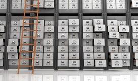 Ficheros en el almacenamiento Imagen de archivo libre de regalías