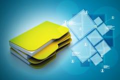 ficheros informáticos 3d Fotografía de archivo libre de regalías