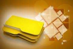 ficheros informáticos 3d Imagen de archivo libre de regalías