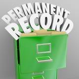 Ficheros personales del cabinete de archivo de registro de la permanente Foto de archivo