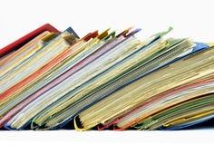 Ficheros y carpetas multicolores Foto de archivo libre de regalías