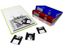 Ficheros y discos Imagenes de archivo