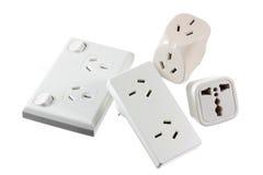 Fiches électriques image stock