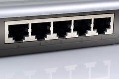 Fiches de commutateur de réseau. photographie stock libre de droits