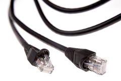 Fiches et câbles photographie stock libre de droits
