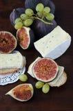 Fichi e formaggio Fotografie Stock