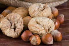 Fichi Nuts e secchi Fotografia Stock