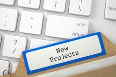 Fichier avec de nouveaux projets d'inscription 3d Photo stock