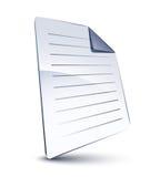 Fichier blanc Image libre de droits