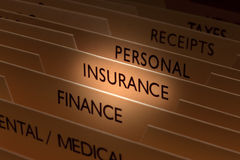 Fichier d'assurance Image libre de droits