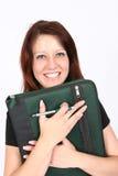 Fichier de recopie de femme d'affaires Photo stock