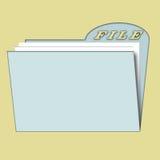 Fichier pour le papier Images stock