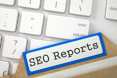 Fichier SEO Reports Photo stock