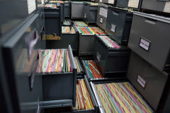 Fichiers d'archives Photo stock