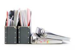 Fichiers dans les dépliants de bureau Photographie stock