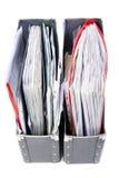 Fichiers dans les dépliants de bureau Image stock