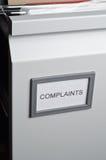 Fichiers de plaintes dans le tiroir Image stock