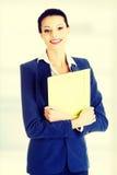Fichiers de recopie de femme d'affaires Photo libre de droits