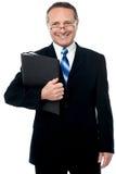 Fichiers de recopie heureux d'homme d'affaires Photographie stock
