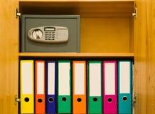 Fichiers et coffre-fort Photographie stock libre de droits