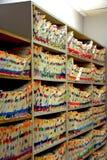 Fichiers médicaux Photographie stock