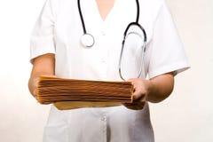 Fichiers médicaux Photos stock