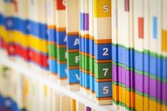 Fichiers médicaux Photo stock