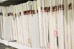 Fichiers organisés sur l'étagère Photo libre de droits