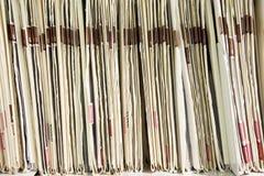 Fichiers organisés sur l'étagère Photos libres de droits