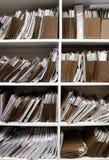 Fichiers sur l'étagère photographie stock