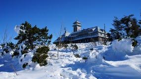 On the Fichtelberg in winter Stock Photos
