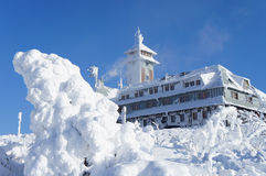 The Fichtelberghaus in winter Royalty Free Stock Photography