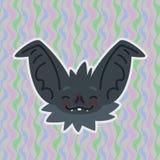 Fick det smiley huvudet för allhelgonaaftonslagträet rodnat Vektorillustrationen av dengå i ax gråa nosen med röda kinder visar b stock illustrationer