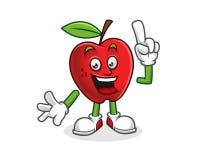 Fick en idéäpplemaskot Vektor av det Apple teckenet Apple logo Arkivbild