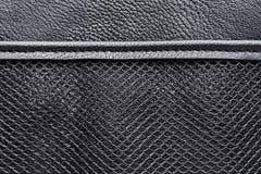 Fick- ingrepp på en läderpåse Royaltyfri Fotografi