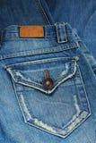 Jeans stoppa i fickan. Royaltyfri Fotografi